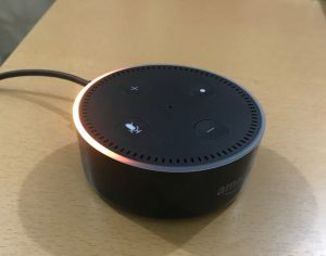 Amazon Echo Dotが光った!!