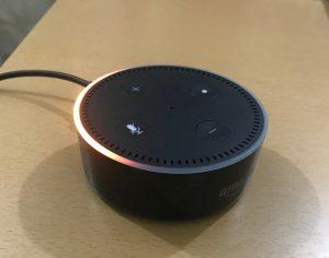 Amazon Echo Dotが光った!!